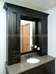 amish made bathroom cabinets amish bathroom cabinets kitchen cabinets raised panel overlay door