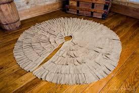 burlap tree skirt deluxe ruffled burlap tree skirt company