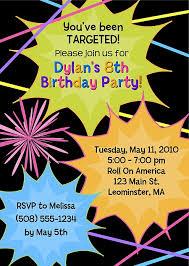 laser quest invites 28 images laser tag birthday invitations