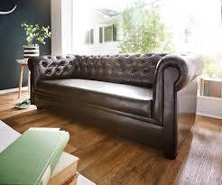 3 sitzer sofa couch chesterfield braun 3 sitzer sofa abgesteppt gepolstert
