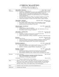 assistant resume template production assistant resume template free resume templates