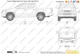 isuzu dmax 2015 the blueprints com vector drawing isuzu d max 4x4 ls u crew