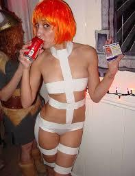 Sexiest Halloween Costume Creative Love Orange Wig Gaga
