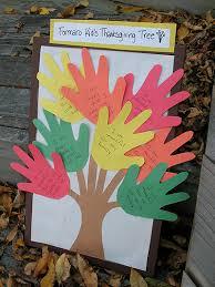 thanksgiving handprint tree craft crafts by amanda