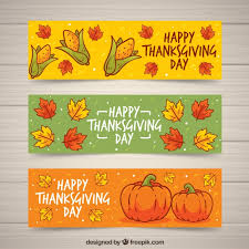 thanksgiving day banners vector free