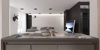 Minimalist Floor Plan An Open Floorplan Highlights A Minimalist Design