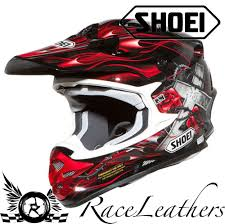 shoei motocross helmets shoei vfx w tc1 josh grant red black motocross dirt bike motorbike
