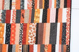 scrappy modern halloween quilt