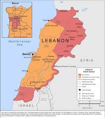 Map Of Lebanon Smartraveller Gov Au Lebanon
