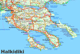 Thessaloniki Greece Map by Halkidiki Maps Greece Maps Of Halkidiki Chalkidiki