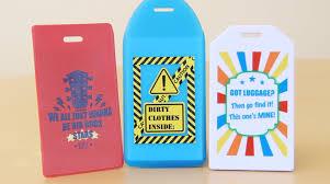 Custom luggage tags tag holders identicard