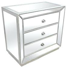 mirrored glass bedside table silver mirrored glass bedroom 3