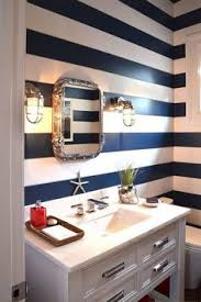 gorgeous blue with tan u0026 white love the striped wall in the