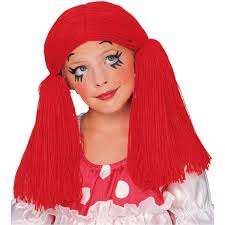 Raggedy Ann Andy Halloween Costumes Adults Amazon Rubie U0027s Costume Rag Doll Yarn Hair Wig Red Size