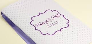 make your own wedding program purple and white wedding program with heavyweight vellum cover and