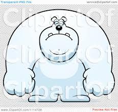 clipart depressed buff polar bear royalty free vector