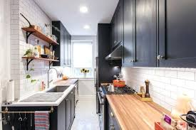 galley kitchen layout ideas with island bench small design