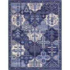 Porcelain Blue Rug Ocean Blue Area Rugs Rugs The Home Depot