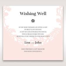 wedding gift registry wording wording for registry on wedding invitation 25 wishing well
