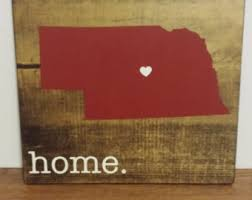 Personalized Wood Signs Home Decor Nebraska Sign Etsy
