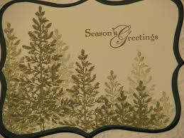 lovely as a tree for christmas cards and tags stamping with karen