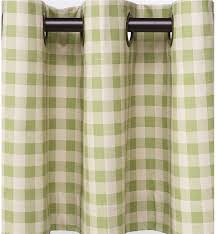 Grommet Top Valances Thermalogic Check Curtains 84