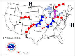 weather fronts map map with fronts earth and space science students