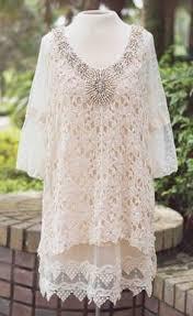 women u0027s shabby chic ivory lacy bottom dress casual wear