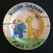 personalized ceramic plates purple glaze home
