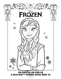 disney frozen anna coloring sheet disneyfrozen frozen ideas