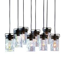 mason jar lights lowes allen roth vallymede 7 7 in olde bronze multi pendant light with