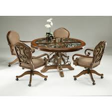 dining sets with casters on chairs piece dinette set with caster