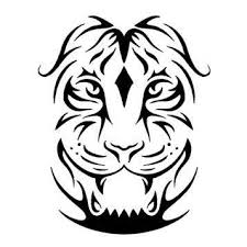 collection of 25 tiger tribal design