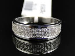 mens white gold diamond wedding bands fascinating white gold diamond pave mm wedding engagement band
