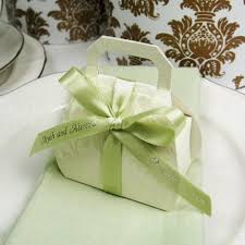 wedding favor containers embossed favor bags with handles