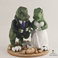 dinosaur wedding cake topper t rex dinosaur wedding cake topper custom and groom