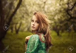beautiful looks in the garden stock photo picture and