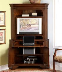 Sauder Computer Desk Armoire by Tv Stands Computer Armoire From Red Cherry Wood With Tv Stand