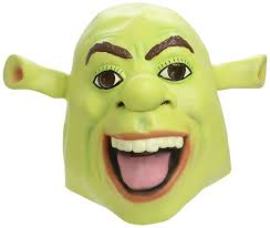latex halloween mask kits amazon com shrek mask overhead latex mask for fancy dress clothing