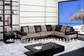 modern furniture living room fabric bond leather sofa
