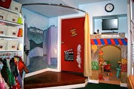 How To Make A Stage Curtain It U0027s A Playroom With A Tree Climbing Wall Design Dazzle