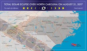 Time Zone Map For Usa 2017 Total Solar Eclipse In North Carolina