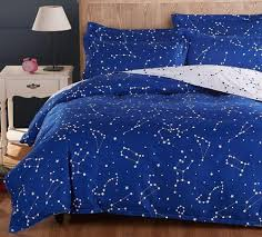 active printed galaxy bedding set stars duvet cover with bed sheet