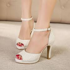 sale silver white pearl studded dress sandals fashion high