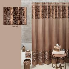 bronze mosaic fabric shower curtain
