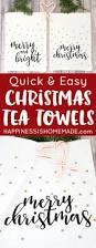 easy christmas tea towels with cricut explore air homemade