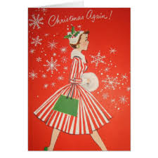 retro christmas cards retro christmas cards invitations zazzle co uk