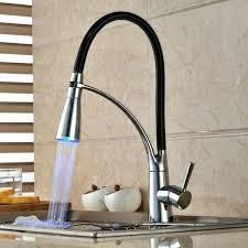 kitchen faucets single handle with sprayer single handle led kitchen faucet with pullout sprayer chrome led