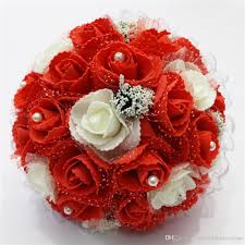 flowers cheap cheap wedding bouquet 2018 pe flowers pearls bridal