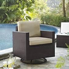 Crosley Palm Harbor Patio Furniture Crosley Furniture Palm Harbor Outdoor Wicker Swivel Rocker Chair